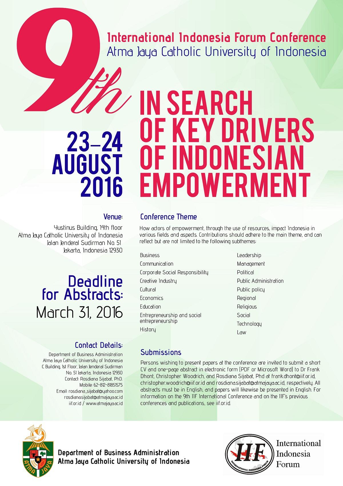Poster, IIF 2016